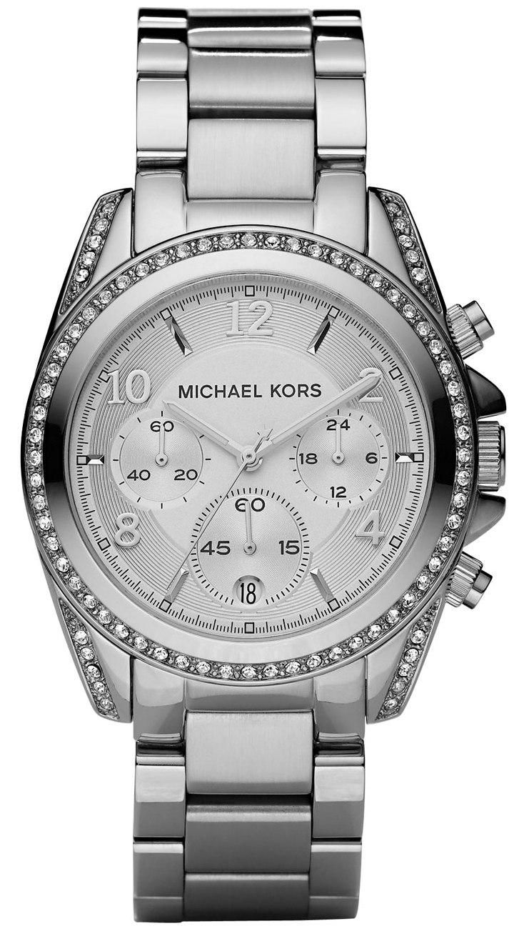 Michael Kors Ladies Blair Collection Silver Designer