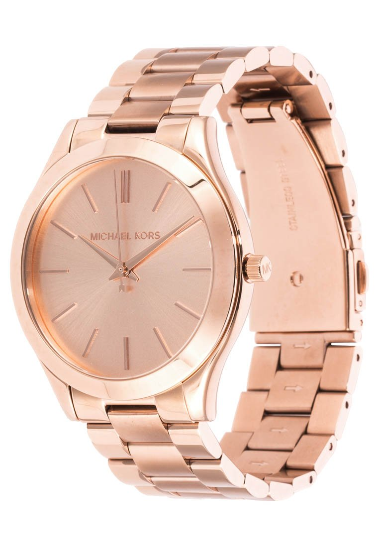 michael kors runway ladies glitz rose gold tone designer round slim watch mk3197 sustuu. Black Bedroom Furniture Sets. Home Design Ideas