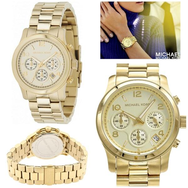 92ed2e454d46 Sentinel Michael Kors Ladies Runway Champagne Gold Tone Chronograph  Designer Watch MK5055