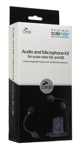Cardo SCALA RIDER Helmet Audio & Microphone / Mic Kit with Hybrid & Corded Booms for Q1 Q3 Qz Units Thumbnail 4