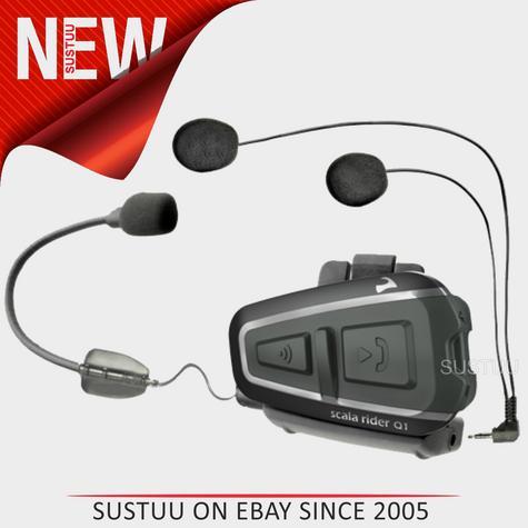 Cardo Scala Rider Q1 2014 Motorcycle Bluetooth Helmet Headset Intercom Thumbnail 1