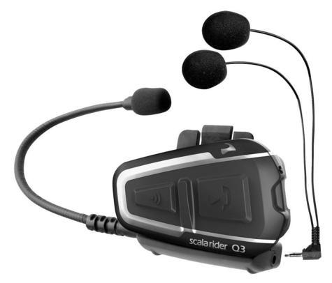 Cardo Scala Rider Q3 Solo Bluetooth Headset |  Motorcycle / Bike Helmet Intercom |  Black Thumbnail 3