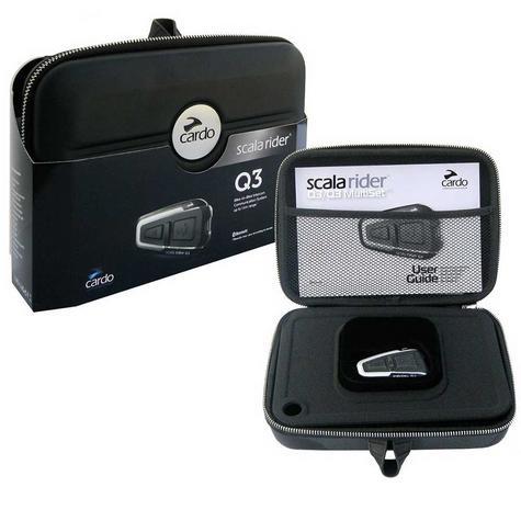 Cardo Scala Rider Q3 Solo Bluetooth Headset |  Motorcycle / Bike Helmet Intercom |  Black Thumbnail 4