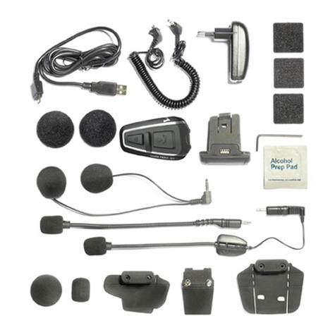 Cardo Scala Rider Q3 Multiset Motorcycle Bluetooth Helmet Headset Intercom Thumbnail 7