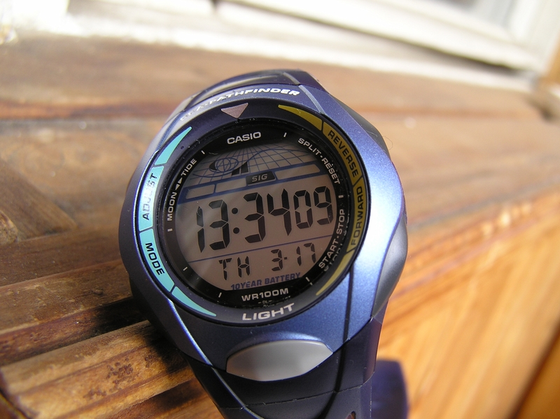 casio sea pathfinder yacht sailing timer blue digital watch sps