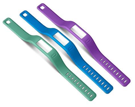 GENUINE Garmin Vivofit Large Wrist Bands Pack of 3 Purple/Teal/Blue 010-12149-00 Thumbnail 1