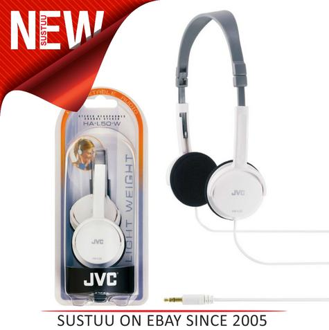JVC HAL50W Foldable Light Weight Stereo Headphones -White Thumbnail 1