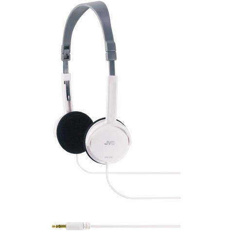 JVC HAL50W Foldable Light Weight Stereo Headphones -White Thumbnail 2