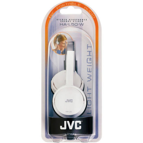 JVC HAL50W Foldable Light Weight Stereo Headphones -White Thumbnail 3