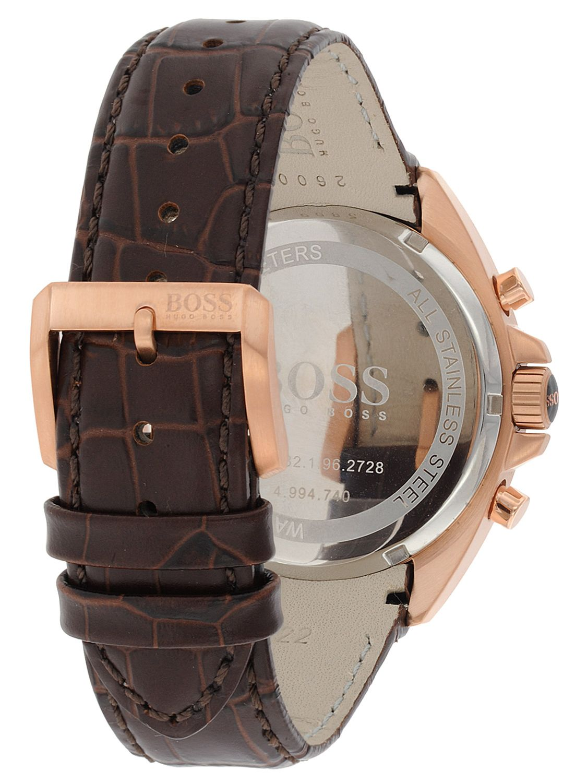 49c4a1bbc6 Hugo Boss Men S 1512447 H2006 Chronograph Silver Dial Brown Leather. Signature  Slim Doc Palmellato Leather Bag Black