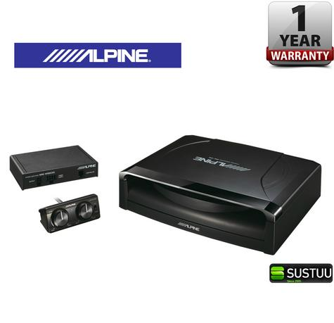 ALPINE SWE 1200 POWERED SUB In car Sound Vehicle Audio Speaker Subwoofer Thumbnail 1