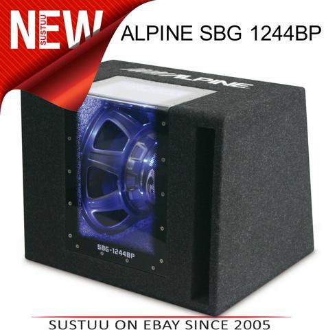ALPINE SBG 1244BP Car Vehicle Audio Boxed Subwoofer Thumbnail 1