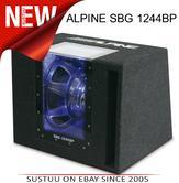 ALPINE SBG 1244BP Car Vehicle Audio Boxed Subwoofer