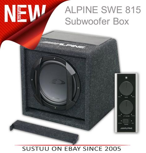 ALPINE SWE 815 In car Sound Vehicle Audio Speaker Subwoofer Thumbnail 1