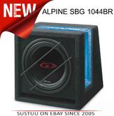 ALPINE SBG 1044BR Car Vehicle Audio Boxed Subwoofer