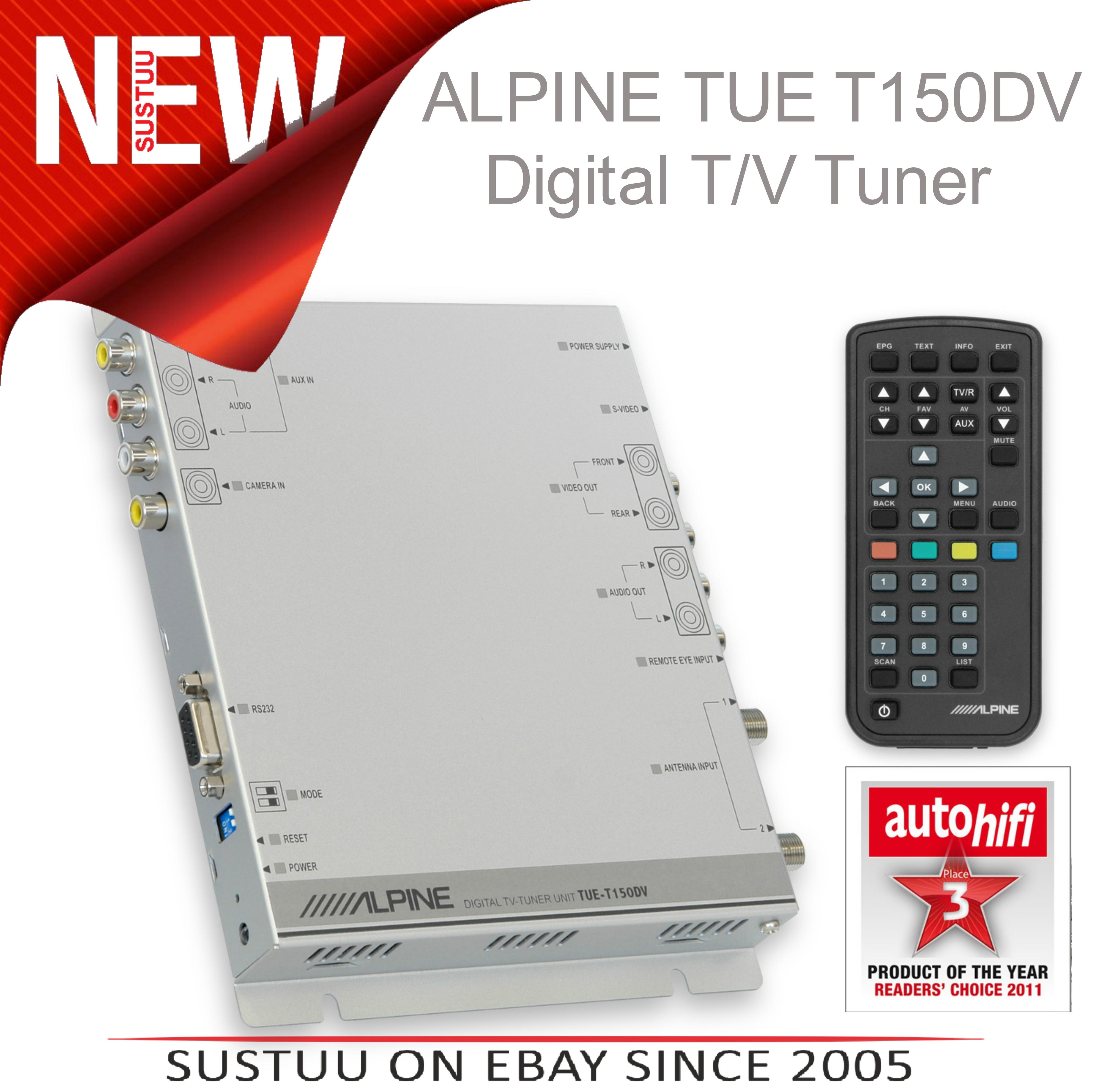 NEW Alpine TUE-T150DV In Car Digital TV Free View Receiver Tuner 1YEAR WARRANTY