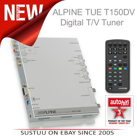 NEW Alpine TUE-T150DV In Car Digital TV Free View Receiver Tuner 1YEAR WARRANTY Thumbnail 1