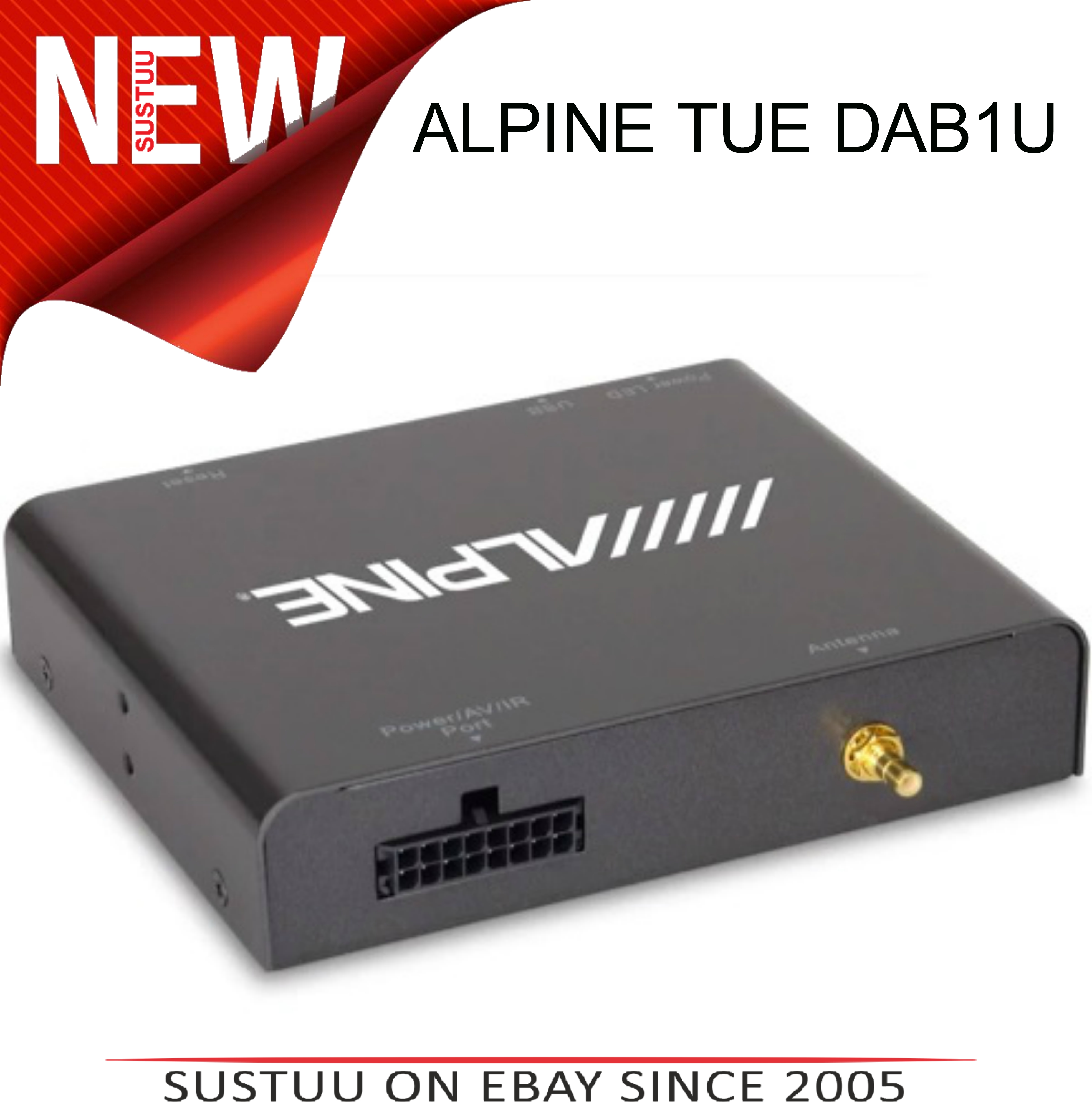 Alpine TUE-DAB1U Add On Mobile DAB/DAB+ Receiver with Direct Touch Control