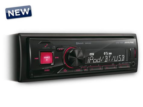 ALPINE UTE-72BT In Car Vehicle Mechless MP3 BLUETOOTH USB AUX iPhone iPod Stereo Thumbnail 3