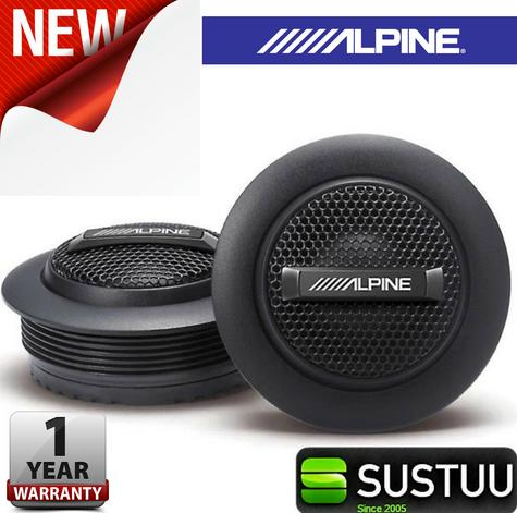 """Alpine SPS 110TW 1""""Silk Dome Rms Component Tweeter Surface Mount Car Speaker NEW Thumbnail 1"""