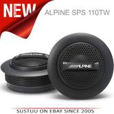 """Alpine SPS 110TW 1""""Silk Dome Rms Component Tweeter Surface Mount Car Speaker NEW"""