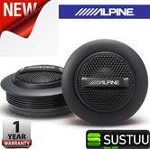 "Alpine SPS 110TW 1""Silk Dome Rms Component Tweeter Surface Mount Car Speaker NEW"