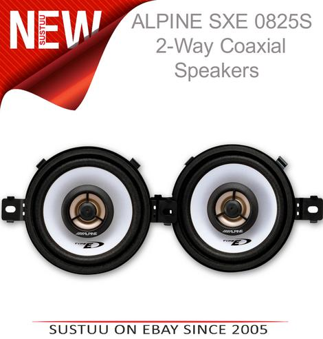 "Alpine SXE 0825S?3.5"" Coaxial Custome Fit 2-way Speakers?Car-Van Dash board?150W Thumbnail 1"