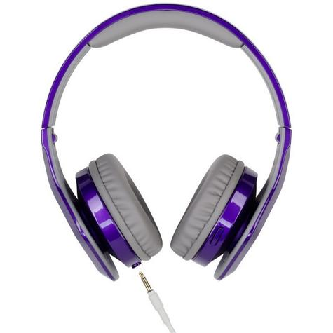 JVC XX Club on ear Headband Headphones with Mic & Remote HA-SR100X Violet Purple Thumbnail 2