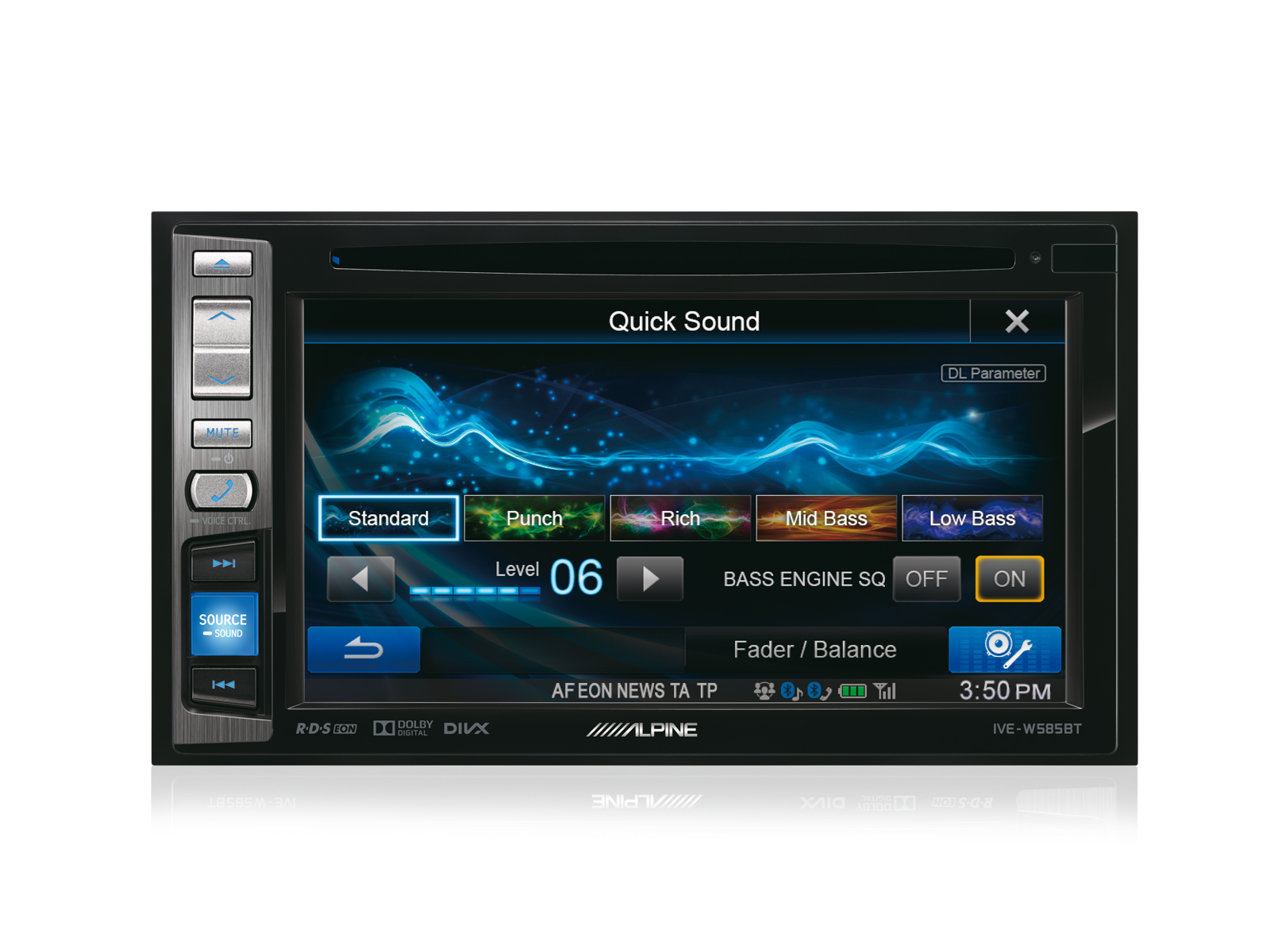 "Alpine IVE W585BT 6.1"" Radio CD/DVD/DIVX/MP3 Double Din Stereo Bluetooth NEW"