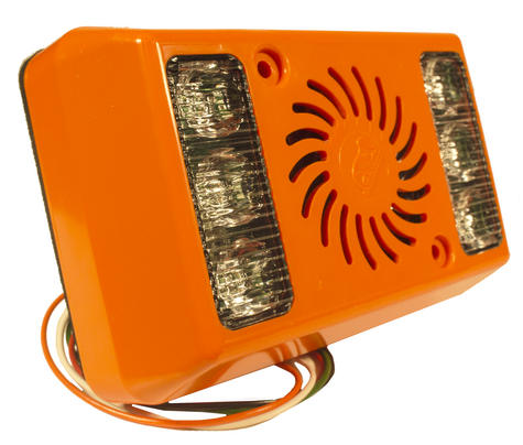 AMBER VALLEY Alarm Light Vehicle Side Minder WARNING With Orange LED 1yrWARRANTY Thumbnail 1