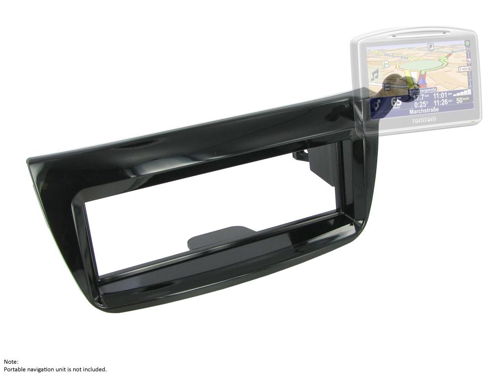 C2 24FT29 Single Din Car Stereo Fascia Adaptor Fiat Doblo/Satnav Holder Attached