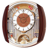 Seiko QXM250B Melody in Motion Wall Clock 12 Melodies 46.8 x 42.4 x 10.9cm