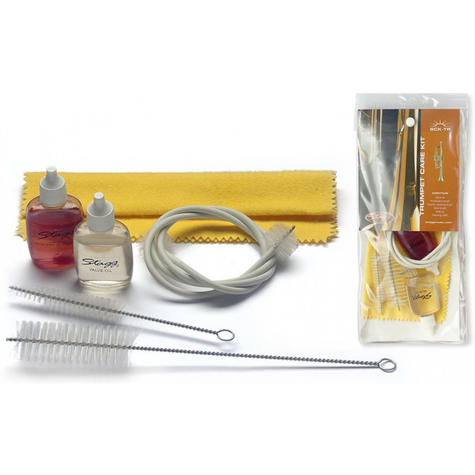 Stagg Trumpet Care Kit Set with Valve Oil Mouthpiece Brush Cleaning Cloth SCKTP Thumbnail 2