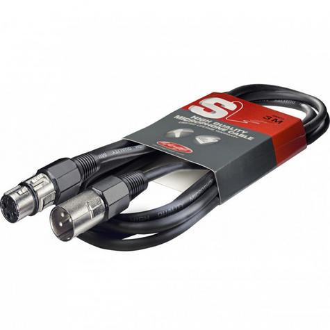 Stagg High Quality Microphone Cable XLR-XLR Plug - 3m Music Thumbnail 1