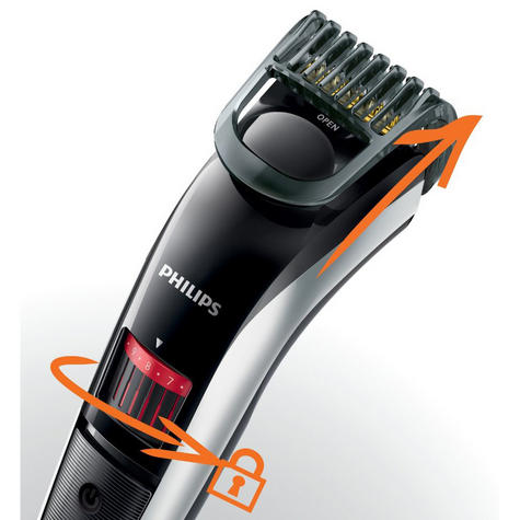 Philips QT4013/23 Beard and Stubble Mens Cordless Trimmer with Titanium Blades Thumbnail 4