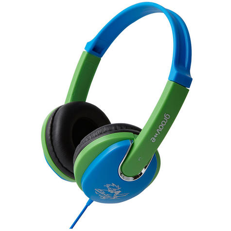 NEW Groov-e GV591 Kidz DJ Style Headphones with 85dB Volume Limiter - Blue/Green Thumbnail 3