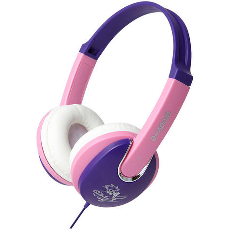 NEW Groov-e GV591 Kidz DJ Style Headphones with 85dB Volume Limiter Pink/Violet Thumbnail 3