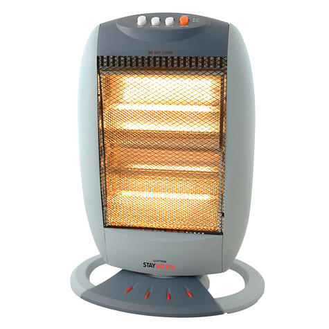 Lloytron F2106GR Halogen Heater / 3 Heat Settings / Auto Cut Off / 90 Oscillation / Grey Thumbnail 1