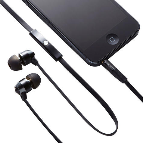 Groov-e Smart Buds Metal Earphones Remote & Mic MP3 iPhone Android GV-EB10BK Thumbnail 2