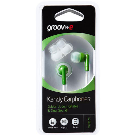 NEW Groov-e GVEB3GN Kandy Stylish Earphones for Apple Android Smartphones GREEN Thumbnail 2