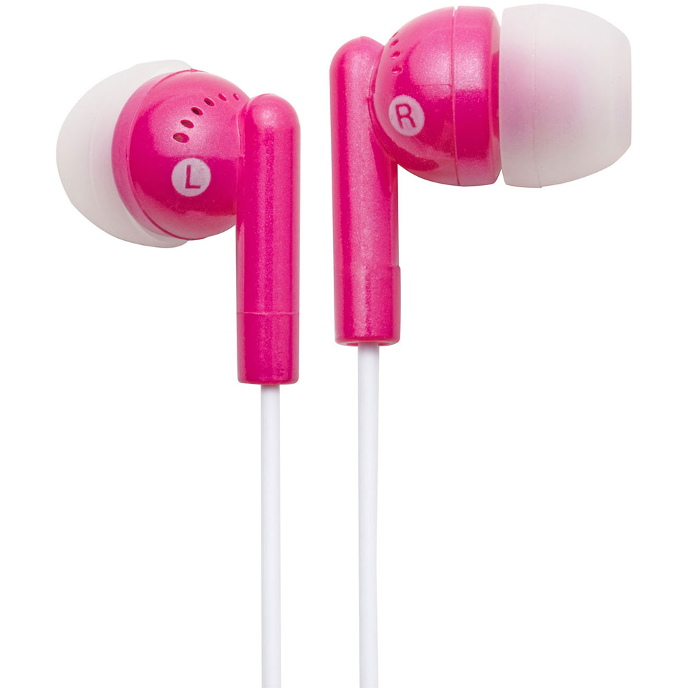 NEW Groov-e GVEB3PK Kandy Stylish Earphones for Apple Android Smartphones PINK