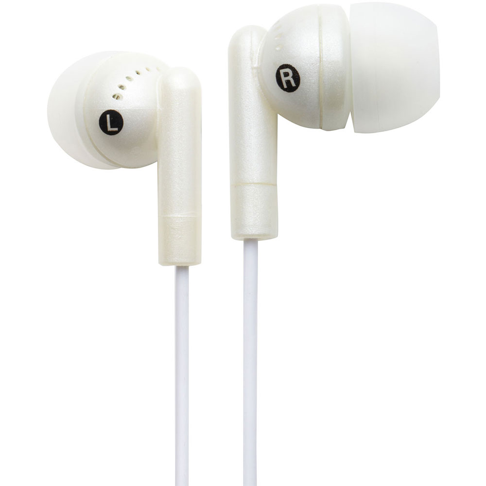 NEW Groov-e GVEB3WE Kandy Stylish Earphones for Apple Android Smartphones WHITE