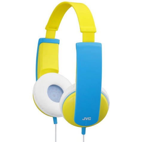 JVC Tiny Phones Kids Stereo Overhead Headphones w/ Volume Limiter - Yellow Thumbnail 4