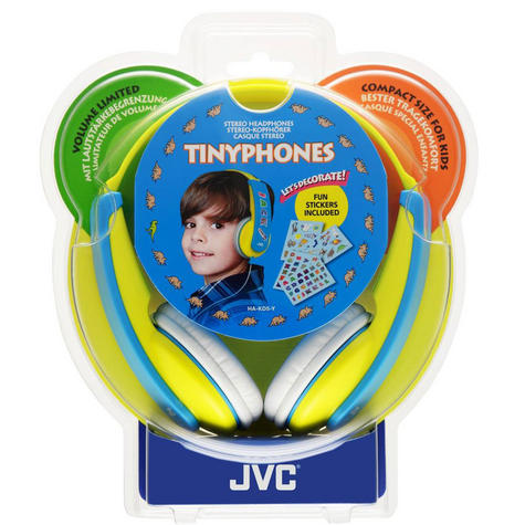 JVC Tiny Phones Kids Stereo Overhead Headphones w/ Volume Limiter - Yellow Thumbnail 5