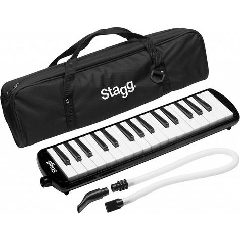 Stagg Melodica Black Music Reed 32 Keys Mouthpiece Piano Keyboard  - MELOSTA32BK Thumbnail 2
