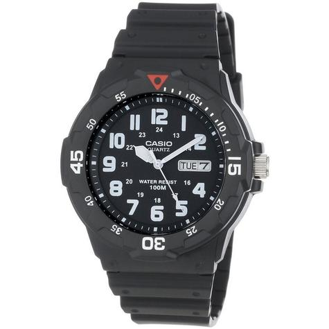 Casio MRW-200H-1BVES Analouge Men's Watch|100M WR|Day-Date Display|Black Face| Thumbnail 1