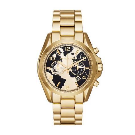 Michael Kors Oversized Bradshaw 100 Gold-Tone Designer Watch MK6272 Thumbnail 1