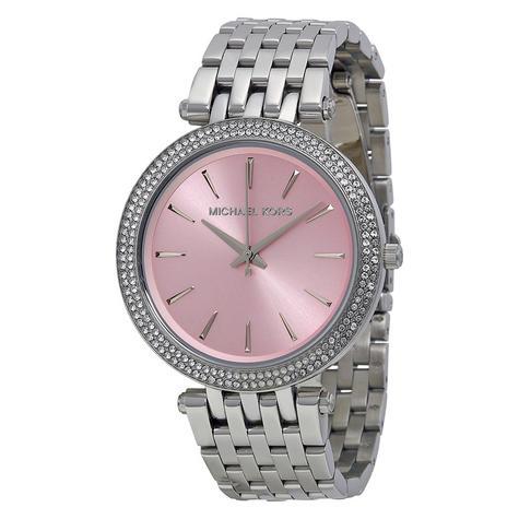 Michael Kors Darci Pave Salmon Pink & Silver Tone Ladies Designer Watch MK3352 Thumbnail 1