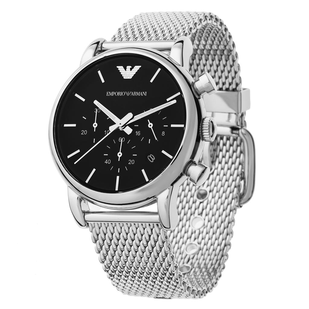 Часы emporio armani stainless steel back