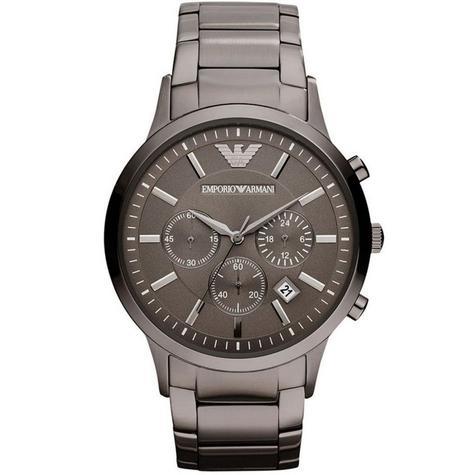 Emporio Armani Classic Gent's Chronograph Gunmetal Tone Bracelet Watch AR2454 Thumbnail 1